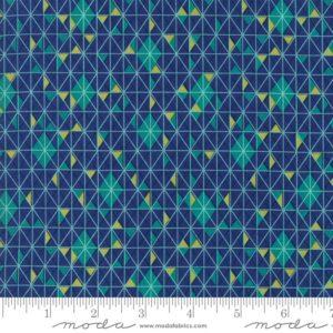 Ткань синяя мозаика